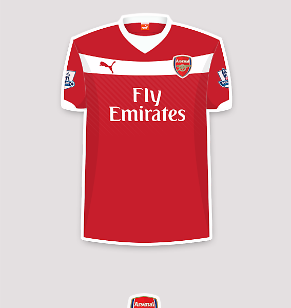 Arsenal 14-15 home fantasy jersey.