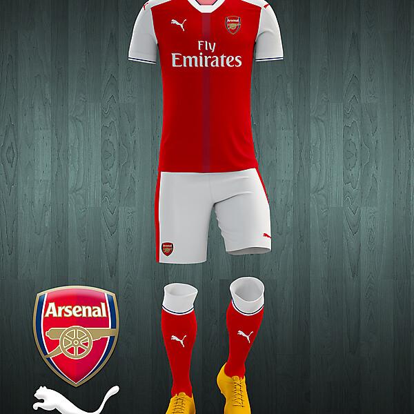 Arsenal 2016-17 home kit