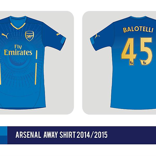 Arsenal FC away shirt 2014 / 2015