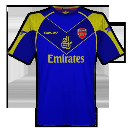 Arsenal Home, Away Third and Euro Home