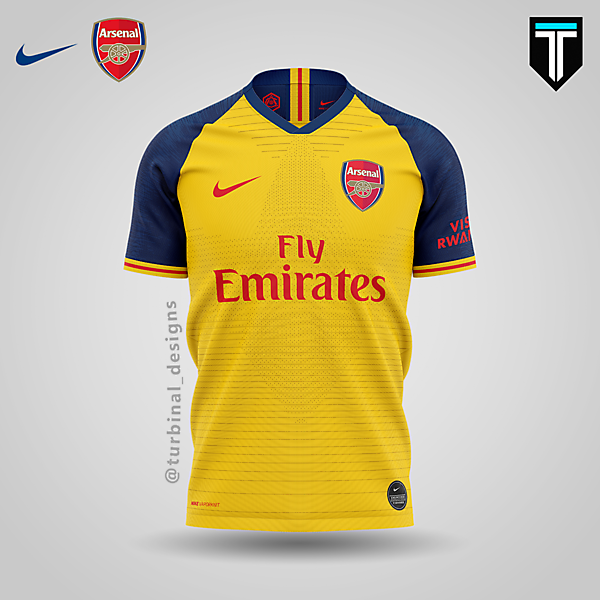 Arsenal x Nike - Away Kit Concept