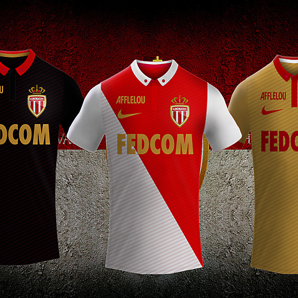 AS Monaco 16/17 Nike Kits