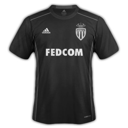 AS Monaco Away shirt with Adidas
