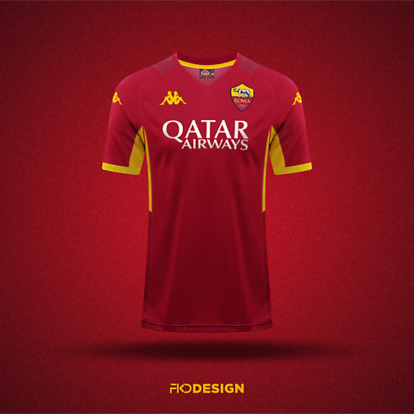 AS Roma || Kappa Home Jersey Concept
