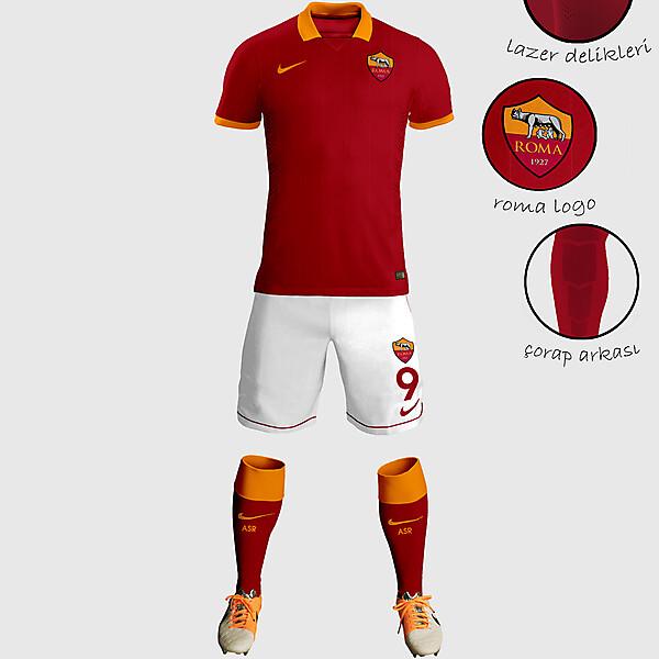 AS Roma Home Kit Design