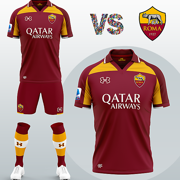 AS Roma Home kit with Under Armour (Concept 2020/21)