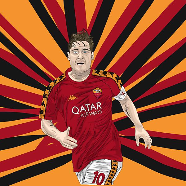 AS Roma Home Kit x Kappa (ft. Francesco Totti)
