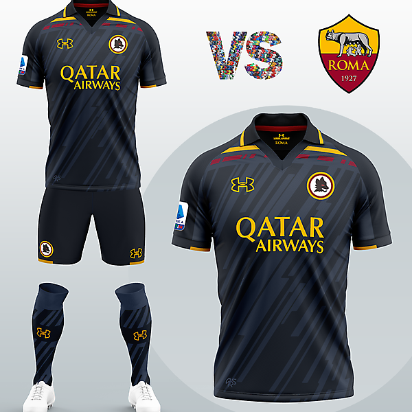AS Roma Third kit with Under Armour (Concept 2020/21)
