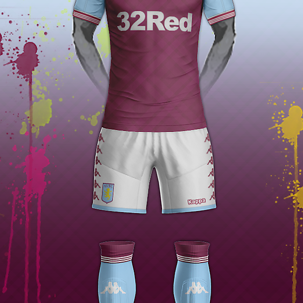 Aston Villa & Kappa home kit concept