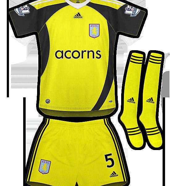 Aston Villa Away Kit 09/10
