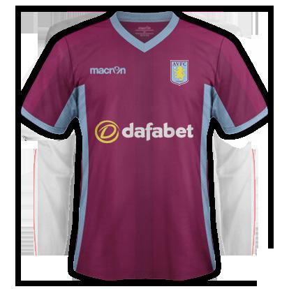 Aston Villa Home Kit 15/16