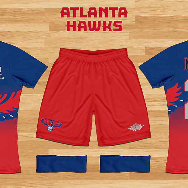 Atlanta Hawks Concept - Throwback Kit