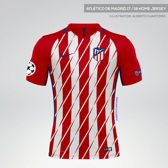 Atlético de Madrid 17/18 Home Jersey