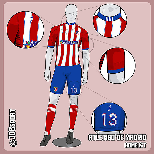 Atletico de Madrid home kit by J-sports