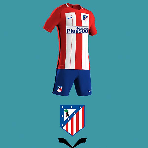 Atletico de Madrid home kit design