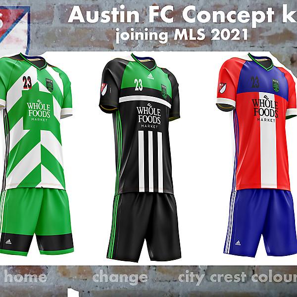 Austin FC Concept kits