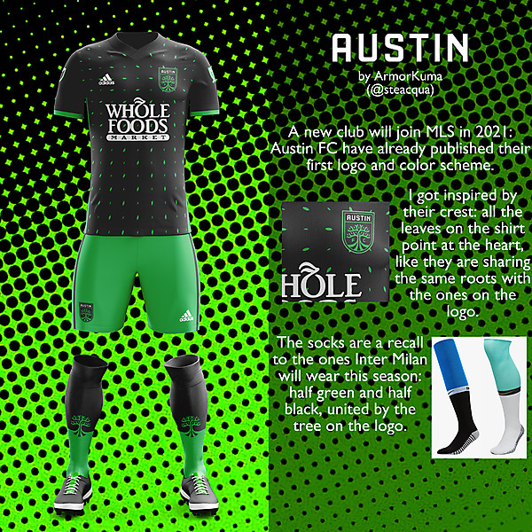 Austin FC home kit Inaugural Season