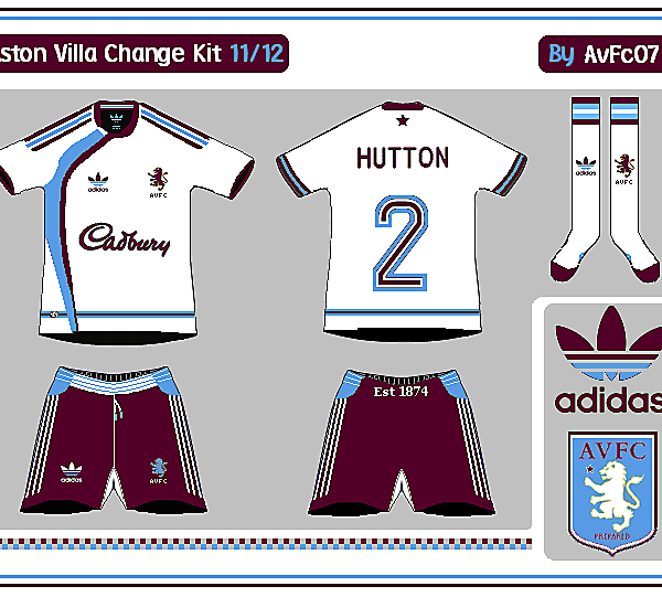 Aston Villa First & Change Kits
