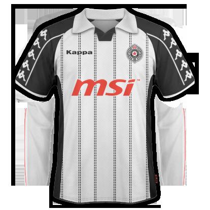 Partizan Belgrade 2010/11 Away Kit