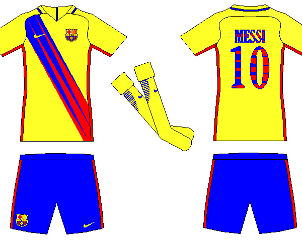Barcelona away kit concept