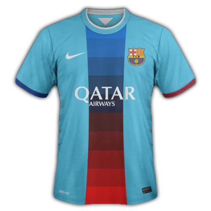 Barcelona Away kit for 2015/16 with Nike