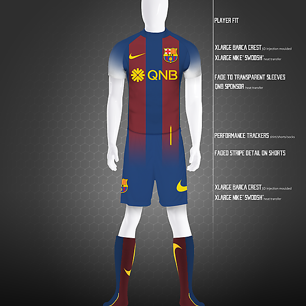 Barcelona FC 2020 Home Kit Concept - Nike
