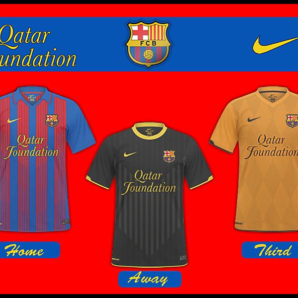 Barcelona Nike 2011/12 Kits