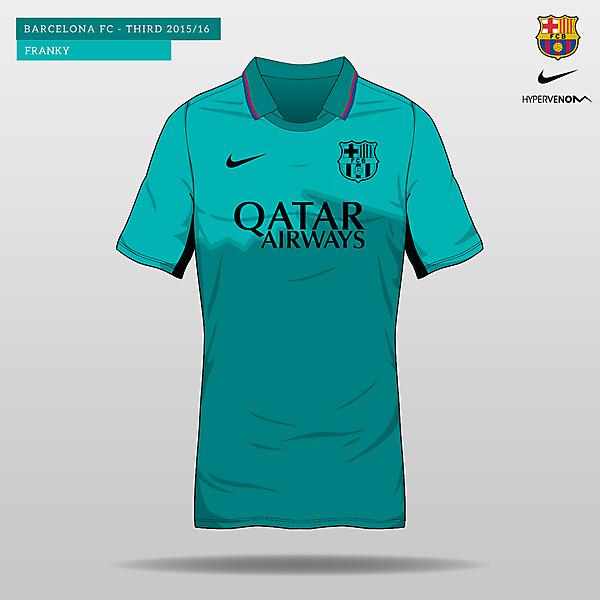 Barcelona Third Kit 2015/16 Hypervenom II Finish