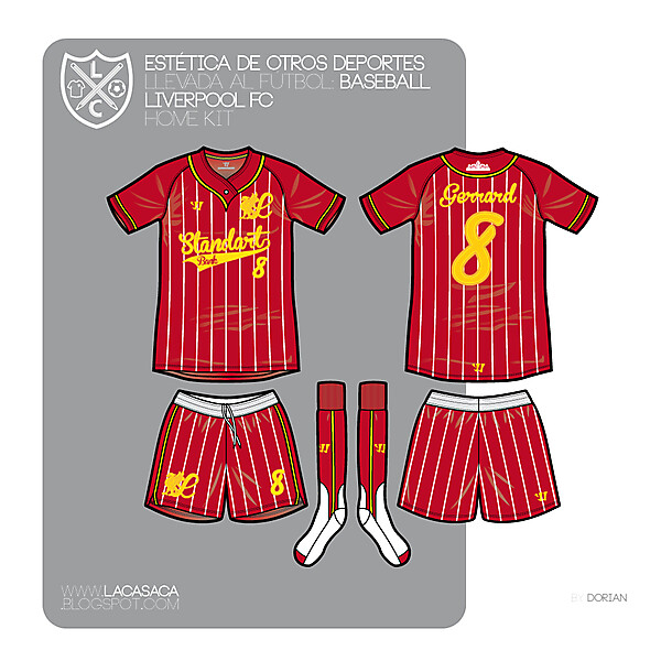 Baseball styled Liverpool FC