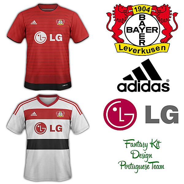 Bayer Leverkusen Home and Away Fantasy Kit 2014/2015