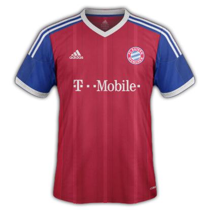 Bayern Munich Home kit 2015/16 with Adidas