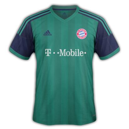 Bayern Munich Third kit 2015/16 with Adidas