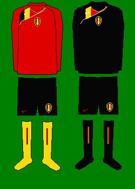 Belgium Home/Away and Goalkeeper kits.