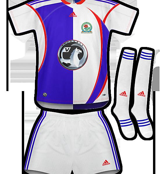 Blackburn Rovers Home Kit 09/11
