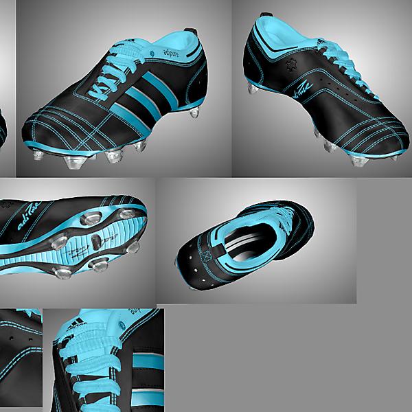 Adidas Adipure II Black/Light Aqua