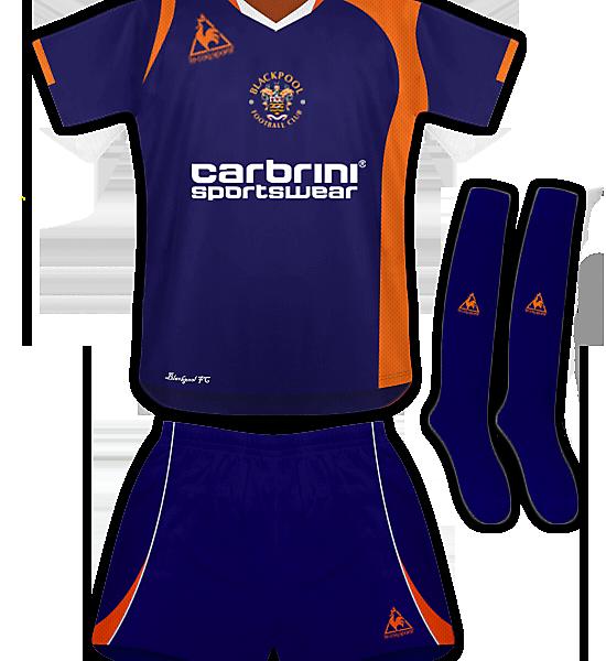 Blackpool Away Kit 09/10