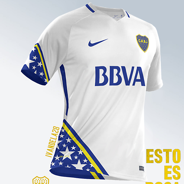 Boca Jrs Away Kit Nike v2