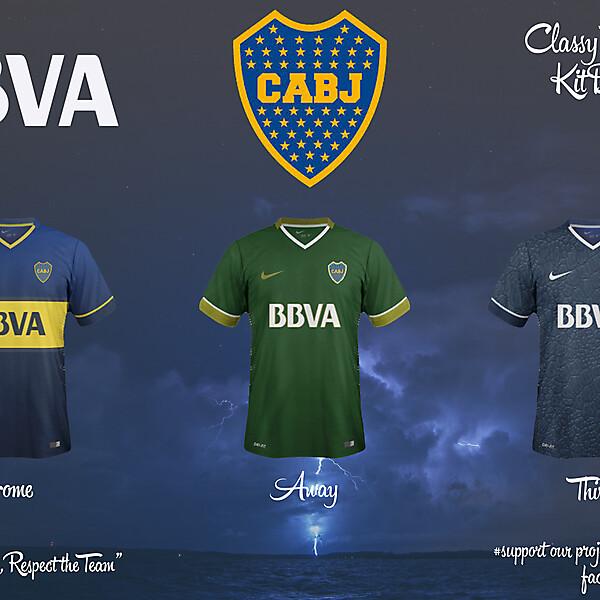 Boca Juniors Home, Away and Third Fantasy Kit 14/15