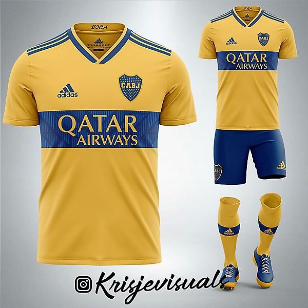 Boca x Adidas Away