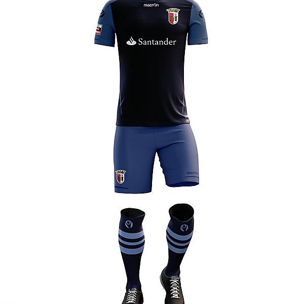 Braga F.C. Away Kit for 2017/18 Season with Macron