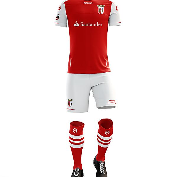 Braga F.C. Home Kit for 2017/18 Season with Macron