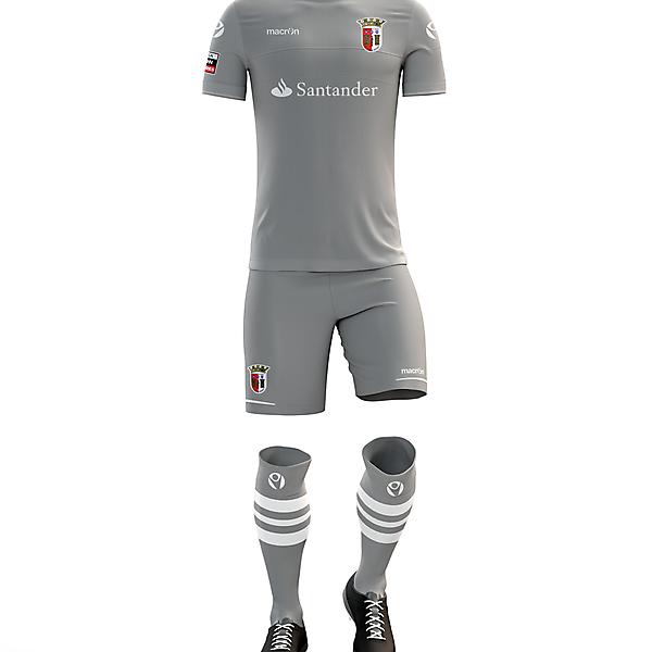 Braga F.C. Third Kit for 2017/18 Season with Macron