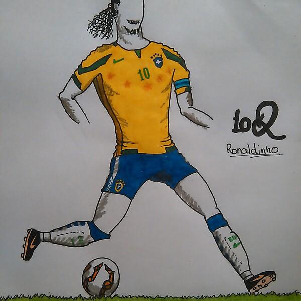 Brasil Football Team Home Kit (Ronaldinho model)