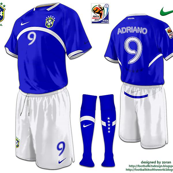 Brazil World Cup 2010 fantasy away