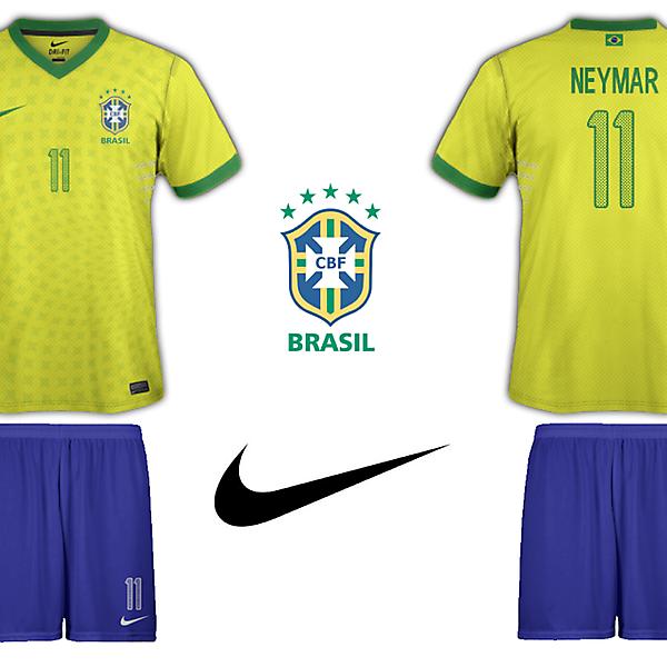 Brazil Nike Home Kit