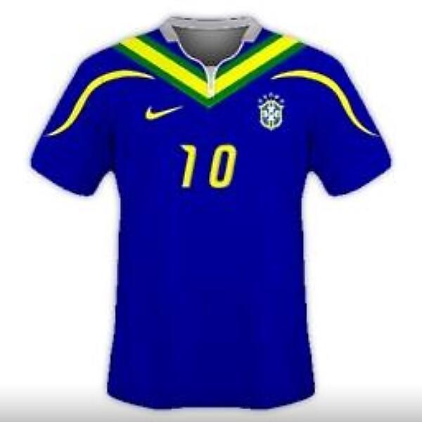 Brazil National Team Away Kit Design