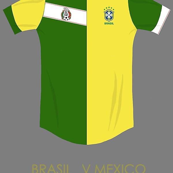 Brazil v Mexico combined kit concept