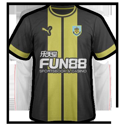 Burnley Away Kit 15/16
