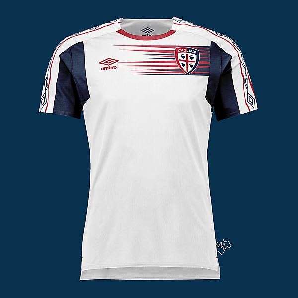 Cagliari away kit by Umbro