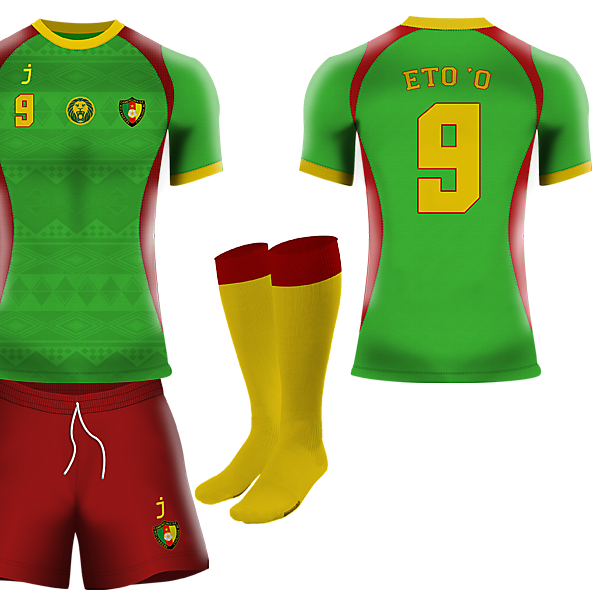 Cameroon home kit by j-sports